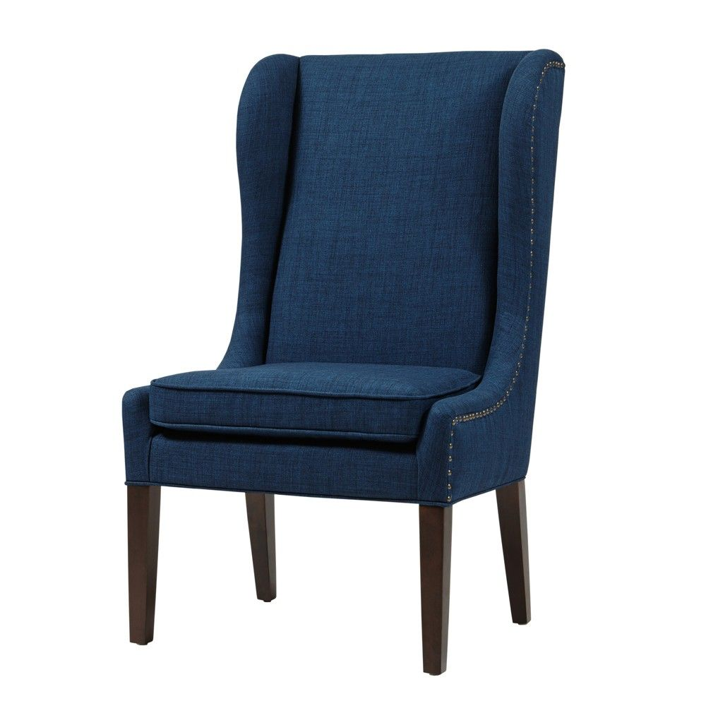 navy blue wingback chairs desk chair in bedroom london dining products pinterest