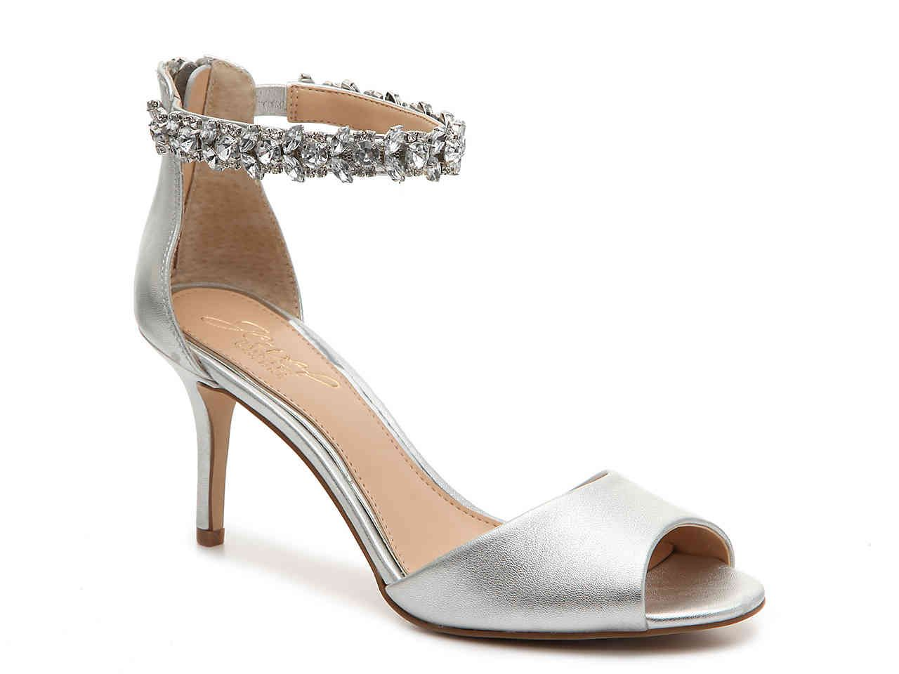 Genevieve Sandal | Womens evening shoes, Silver shoes low