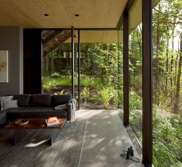 Houses With Big Windows Lake House Large Glass Windows By Mw