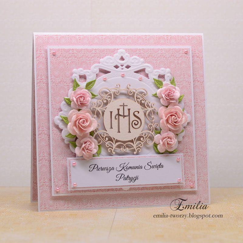 Kartka Komunijna Dla Dziewczynki I Chlopca First Communion Cards Cards Handmade Crafts