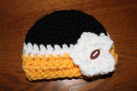 NFL Pittsburgh Steelers inspiriert Hut / Mütze häkeln   Maya´s ...