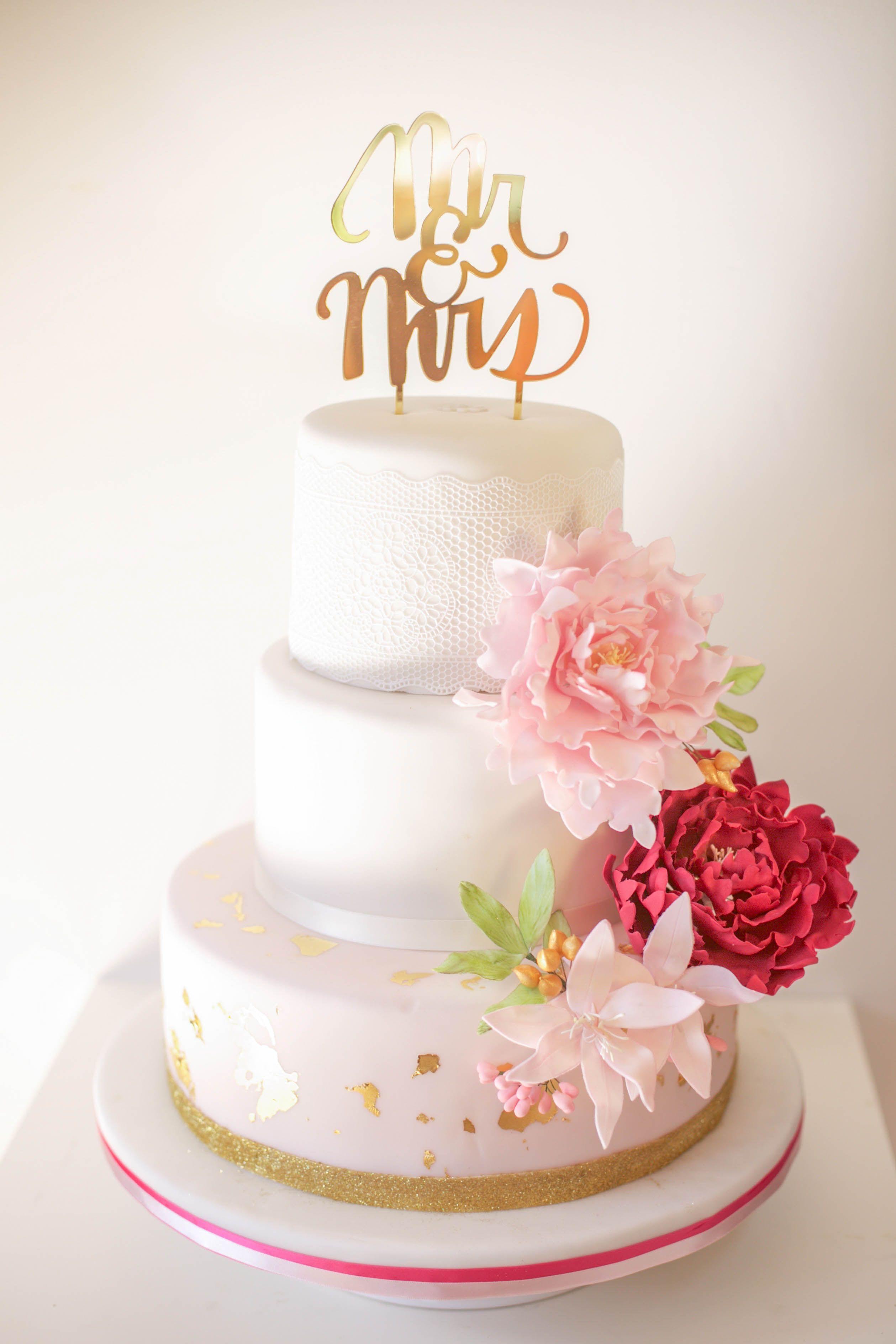 Hochzeitstorte Pfingstrose Peony Weddingcake Hochzeitstorten