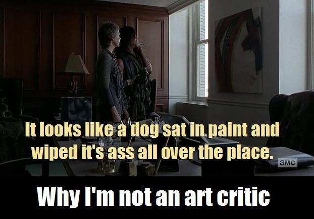 Why I'm not an art critic