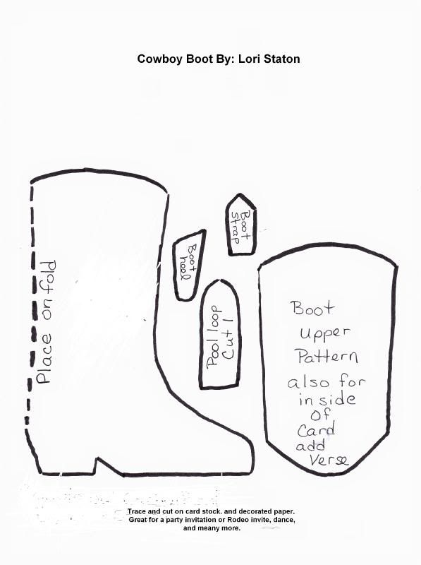 boot template Printables Pinterest Templates, Cards and Crafts