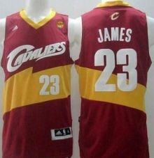 cavaliers 23 lebron james red the finals patch new revolution 30 stitched nba jersey