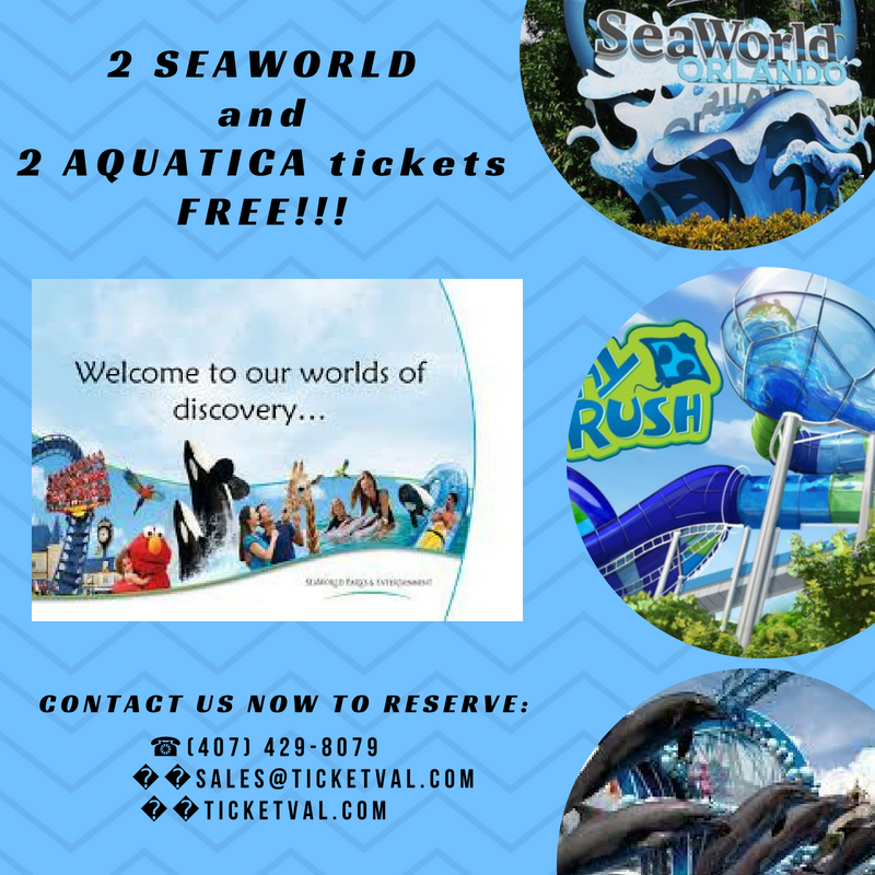2 Seaworld And 2 Aquatica Tickets For Free Buy Your Tickets Now Contact Us 407 429 8079 Orlando Theme Park Tickets Orlando Tickets Theme Park