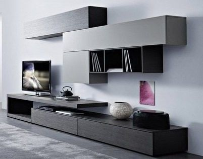 Mueble modular mesa rack living tv lcd progetto mobili for Racks y modulares para living