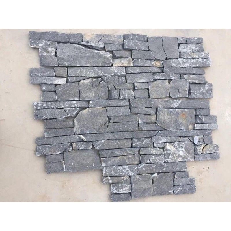 Exterior Wall Cladding Black Slate 15x60cm Foshan Dark Grey Natural Stone Veneer Panel C Natural Stone Veneer Natural Stone Veneer Panels Stone Veneer Exterior