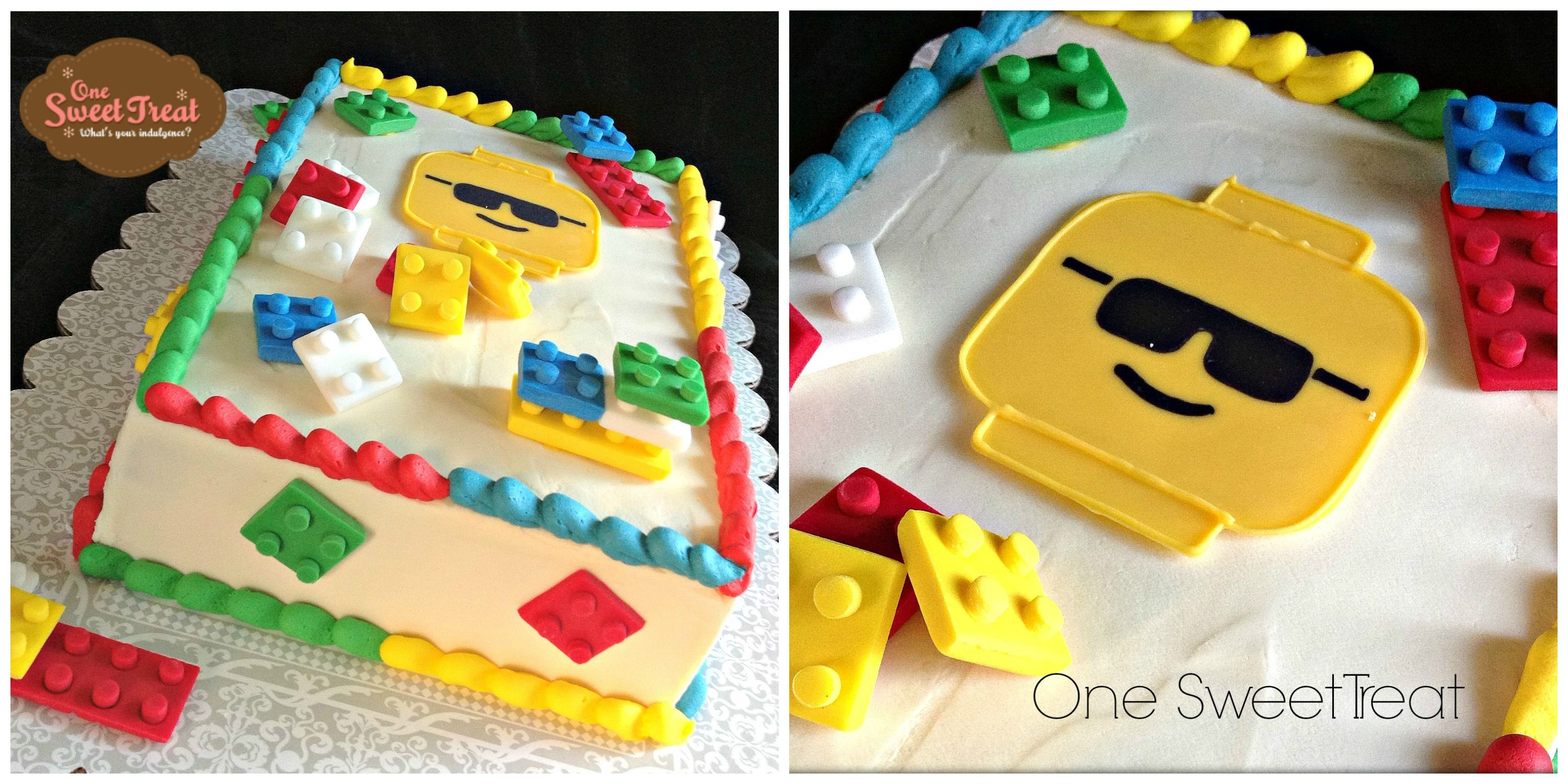 Lego Cake A Lego Theme Cake Covered In Buttercream And Decorated