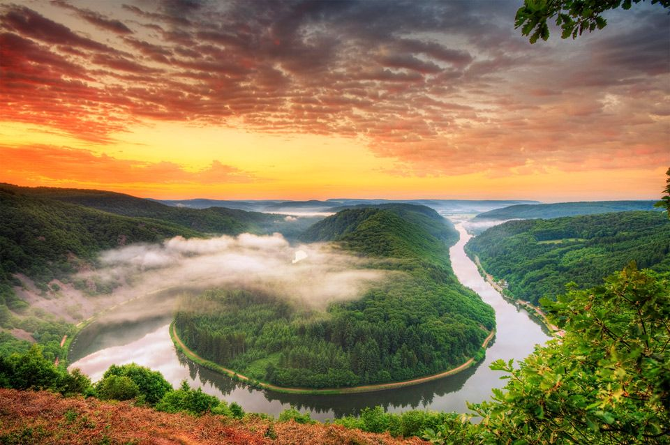 River Saar Germany Photo Amazing Nature Germany Landscape Natural Scenery