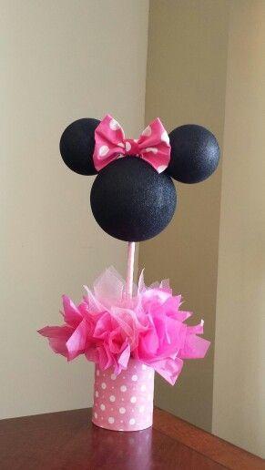 Centro De Mesa Minnie Ideas De Fiesta Minnie Mouse Party Mouse
