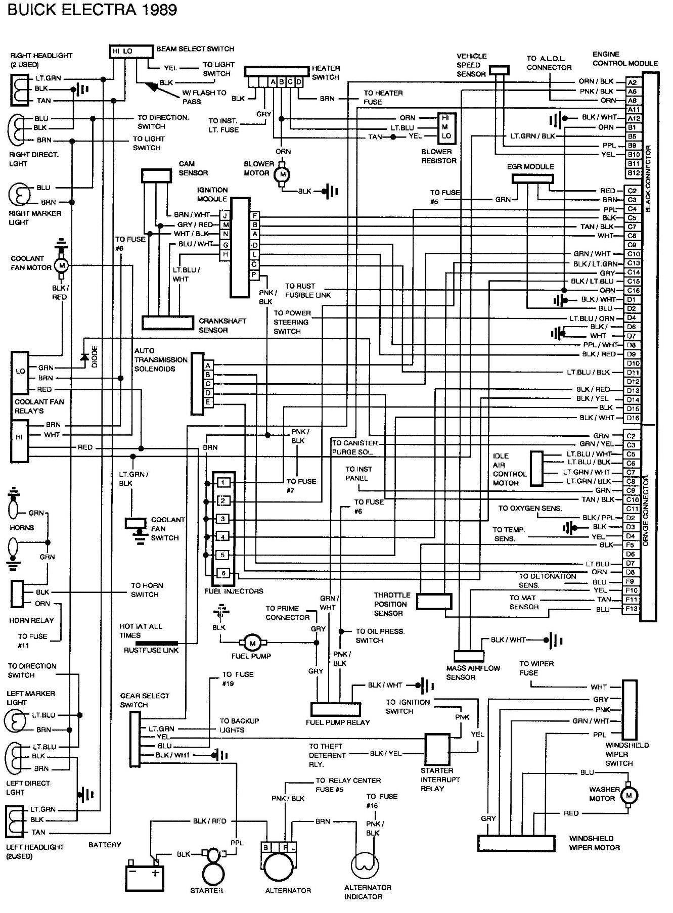 1999 Buick Lesabre Relay Diagram