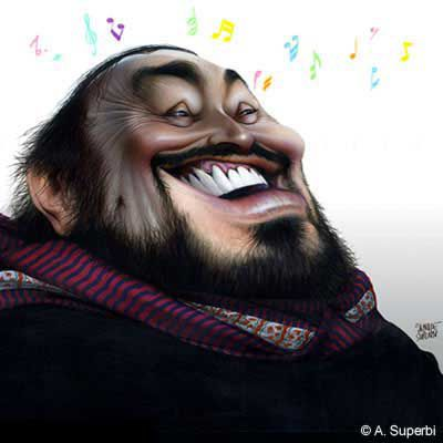Luciano Pavarotti by Achille Superbi