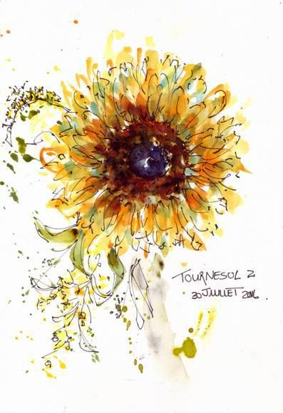 Watercolour For Sunflowers Watercolor Sunflower Tattoo