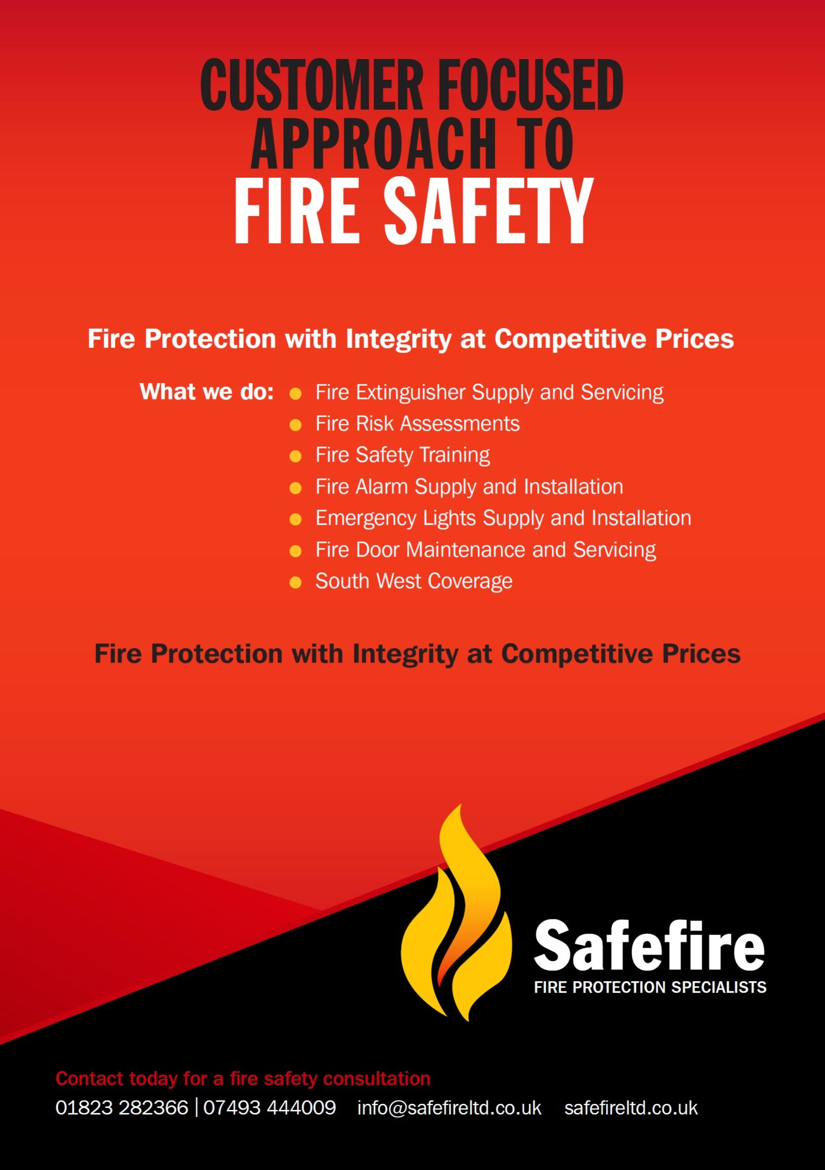 Safefire Ltd were founded to offer a truly different Fire