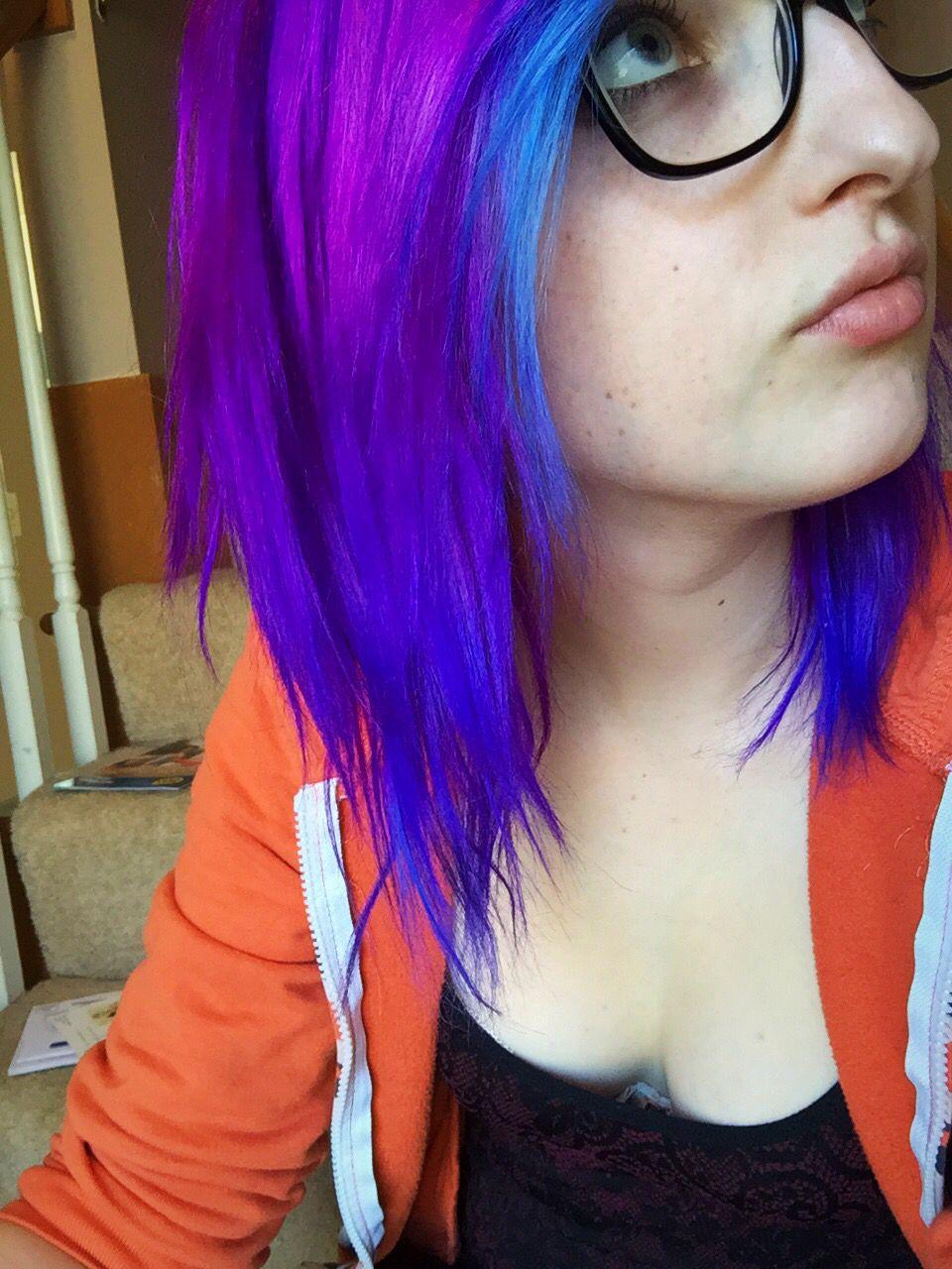 Arctic fox hair dye purple rain violet dream poseidon