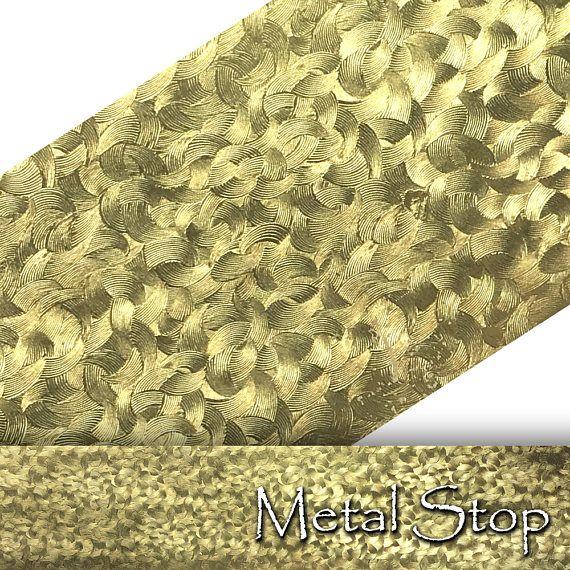 Textured Embossed 24 Gauge Brass Sheet Metal Pattern Brush Strokes Pattern 2 5 X 12 Solid Bras Brush Strokes Pattern Sheet Metal Metal Forming