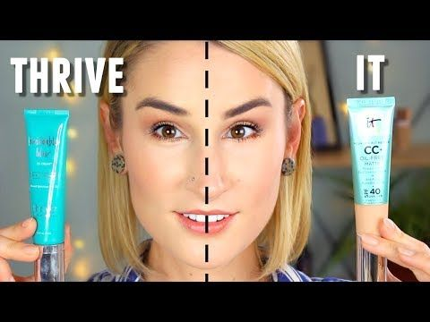 61db0914be4 THRIVE CAUSEMETICS vs IT COSMETICS MATTE | CC Cream Wear Test + Review |  SIDE-BY-SIDE COMPARISON - YouTube