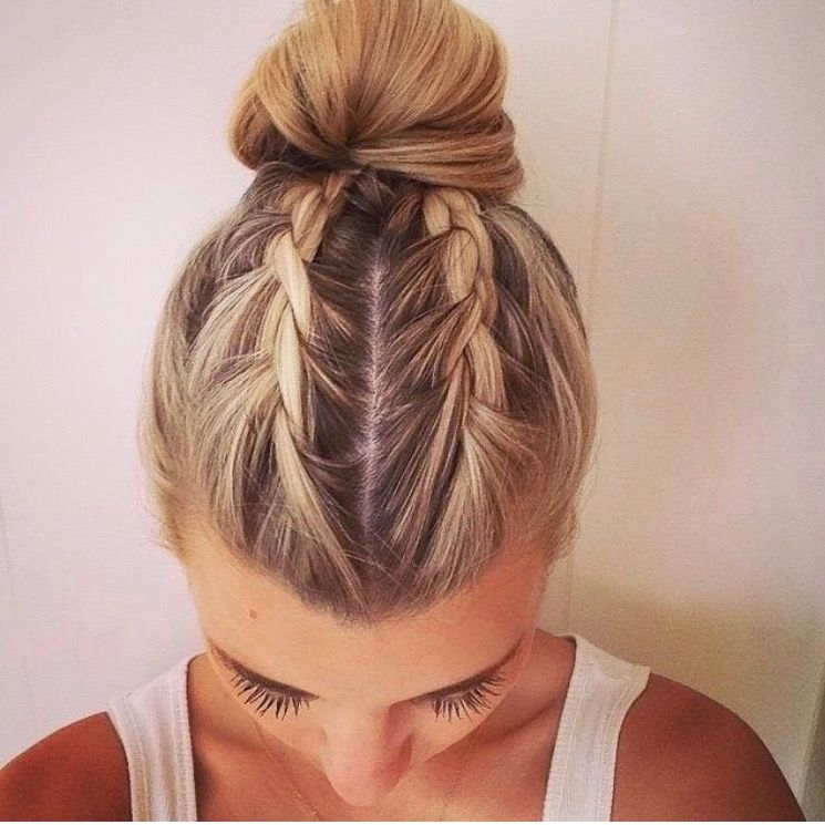 Braids Into Bun This Is Cool Hair Looks Hair Styles