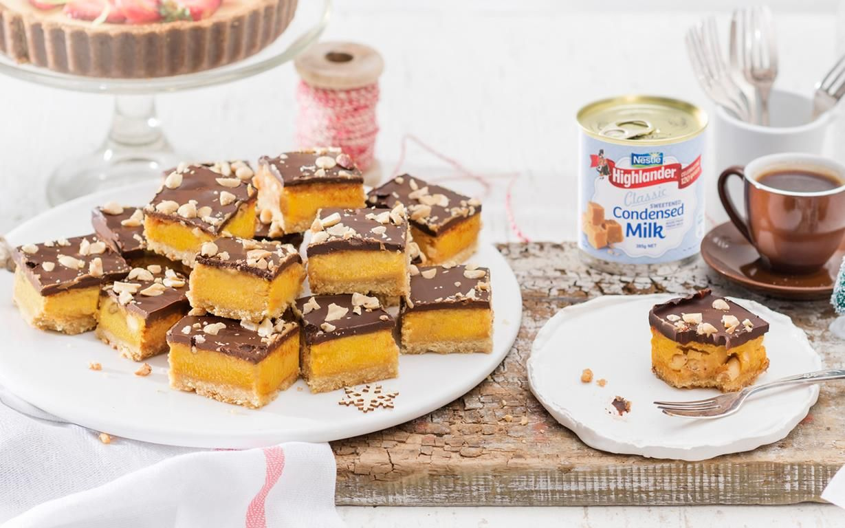 Best Ever Caramel Slice With Salted Peanut Crunch Recipe Caramel Slice Christmas Baking Crunch Recipe