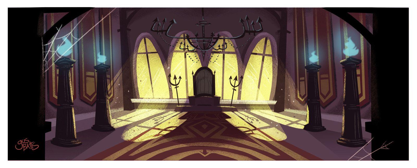 Tv Show pitch background design, Gus Batts on ArtStation at https://www.artstation.com/artwork/wPYkL