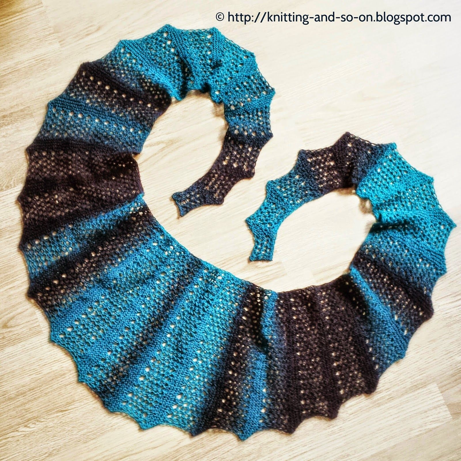 Free Knitting Pattern: Seifenblasen Lace Scarf | Patterns | Pinterest