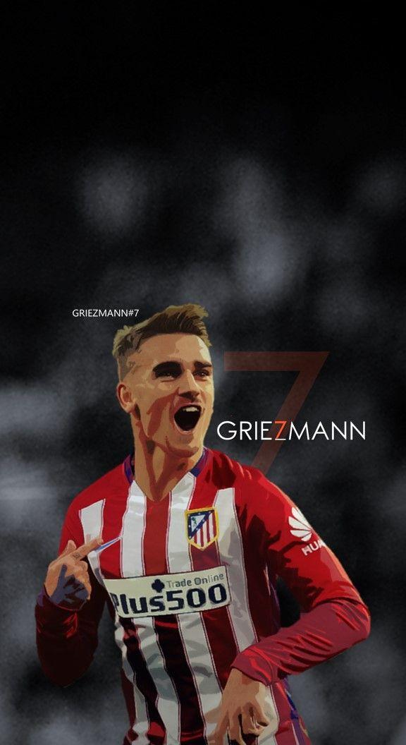Antoine Griezmann Atletico Madrid Football Soccer Creative Art Wallpaper Jogadores De Futebol Esportes Futebol Futebol