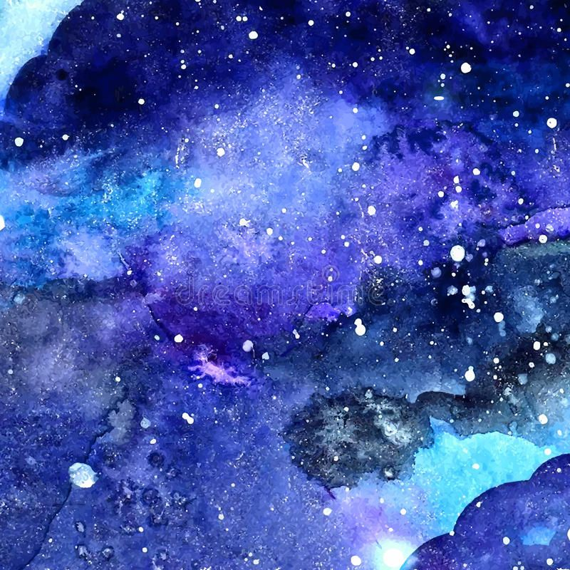 Watercolor Space Texture With Glowing Stars Night Starry Sky With Paint Strokes Sponsored Stars Watercolor Night Sky Space Watercolor Watercolor Galaxy