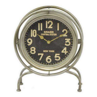 Three Hands Retro Metal Table Clock - 16532, THC256