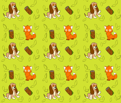 Unlikely Pair fabric by cozyreverie on Spoonflower - custom fabric