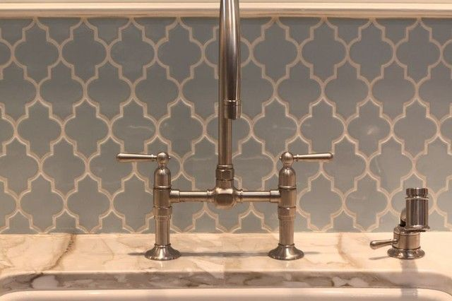 Moroccan Glass Tile Backsplash With Interesting Pattern To Add