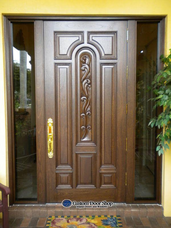Number 1 House Main Door Design Wood Exterior Door Custom Door