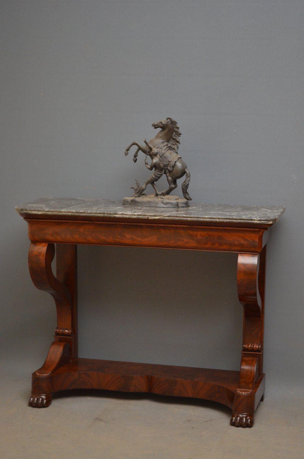 Louis Philippe Mahogany Console Table Con Imagenes Muebles Mesas