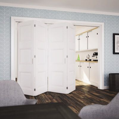KLÜG Folding Door Kit - 3m Track for 40kg Doors - 4 Leaves in One ...