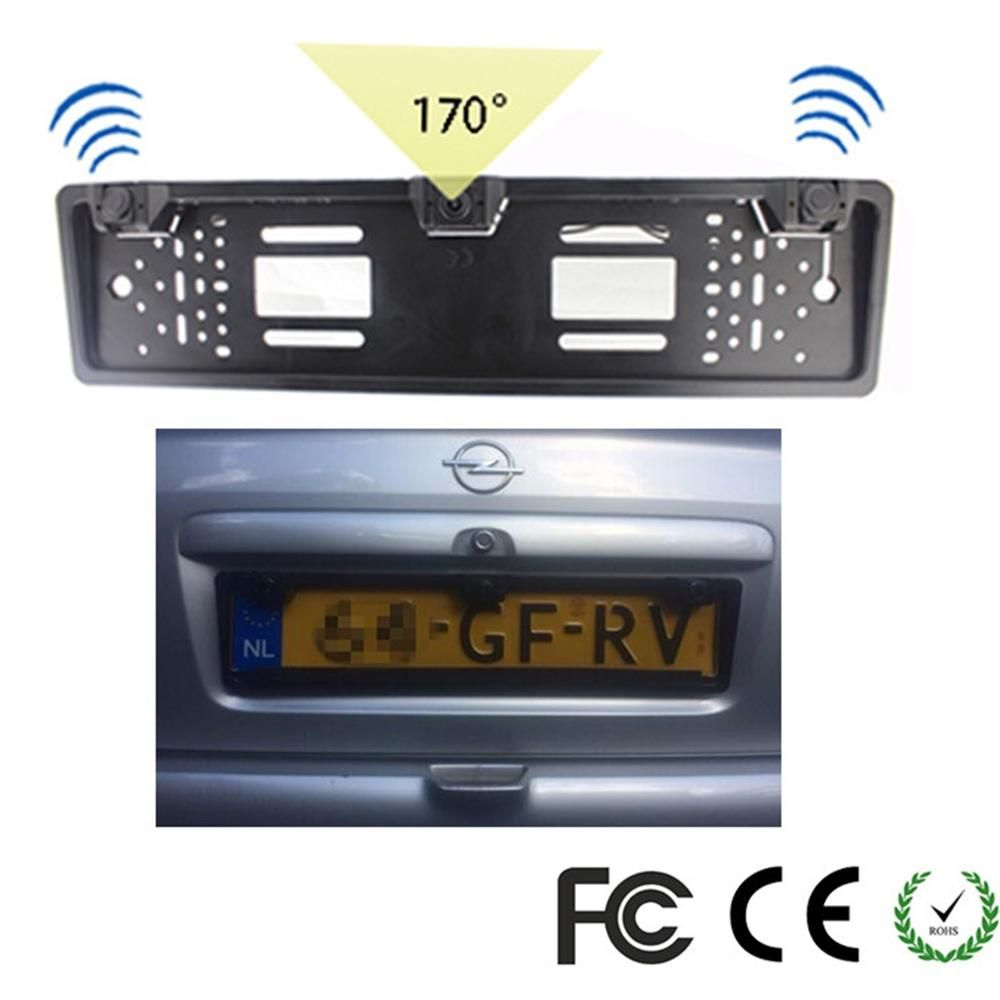 1 European License Plate Frame + 1 Car Rear View Camera + 2 Parking ...