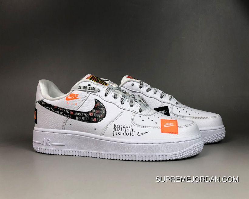 Women Men Nike Air Force One 07 Premium Just Do It White Copuon Nike Air Force Nike Air Force Ones Nike