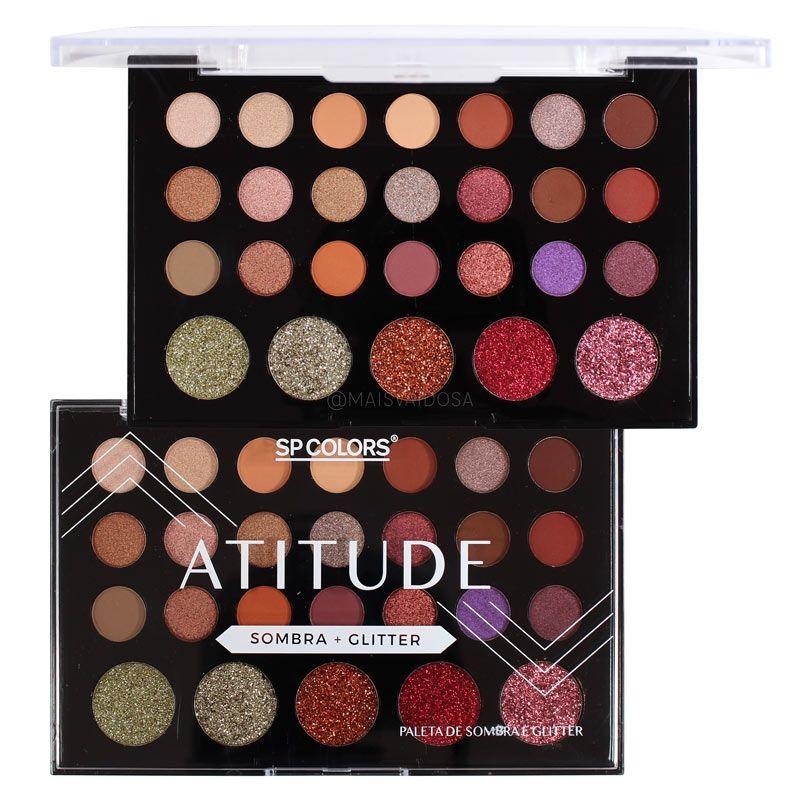 AC Cosmeticos - Paleta de Sombras Best 35 cores SP Colors