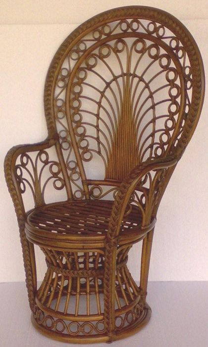 Fan Back Wicker Chair Tulip Cushion Replacement Princess Fanback Rattan And Decor Global