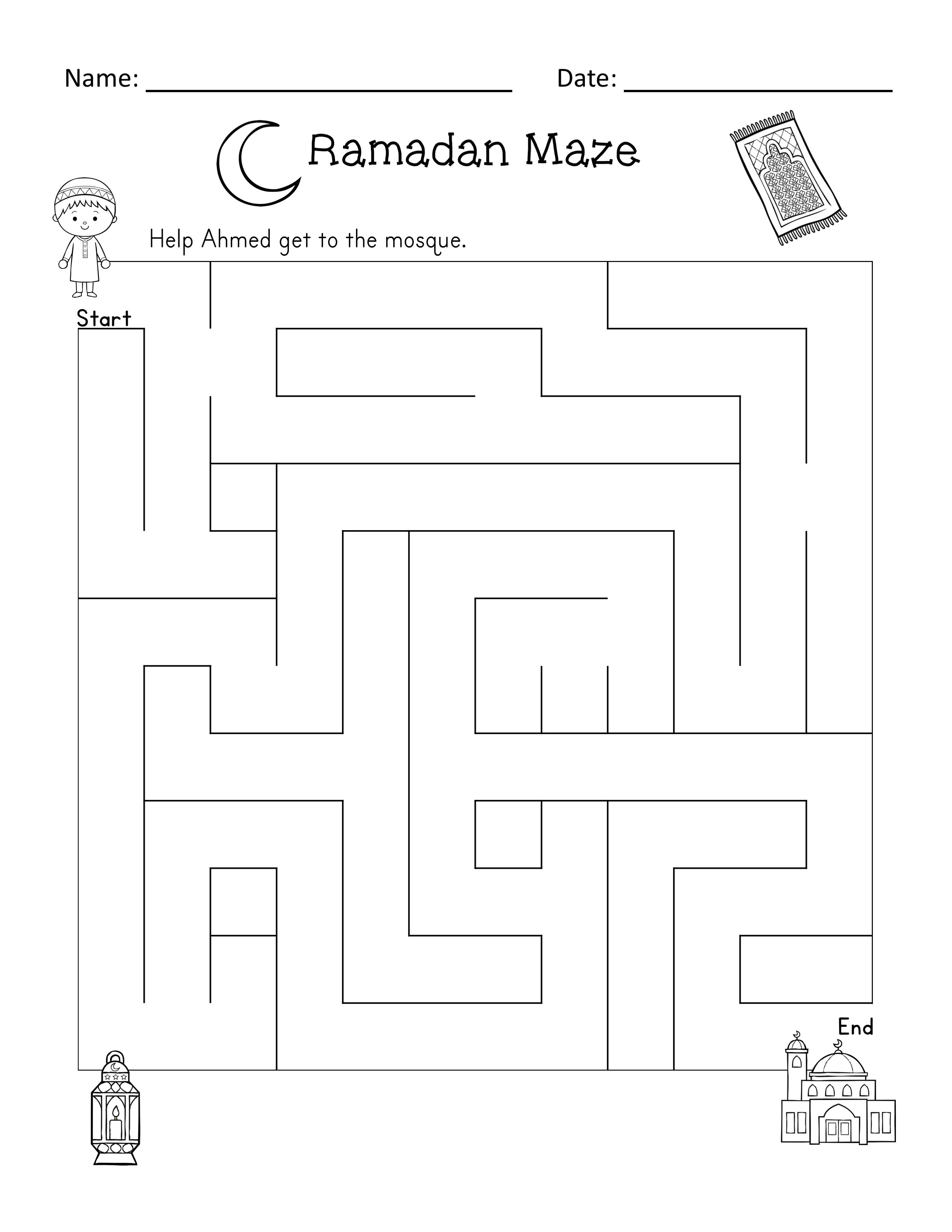 Ramadan Reader And Activities Ela Math Puzzles