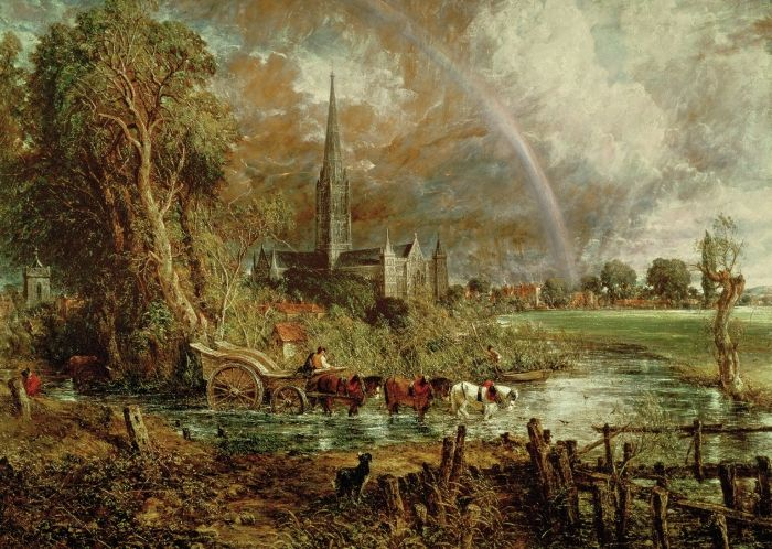 Salisbury Cathedral From The Meadows 1831 In 2019 Paintings