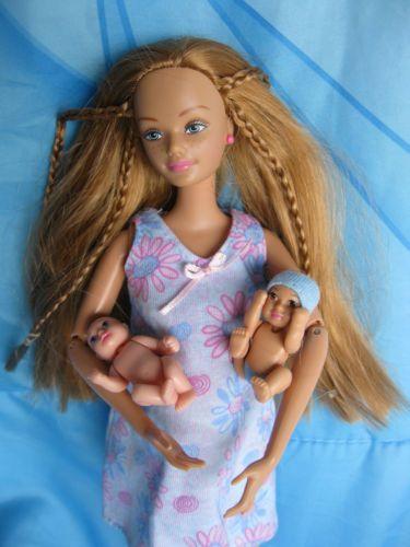 Late, than pregnant barbie doll