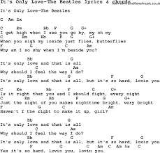 Image Result For It S Only Love Beatles Lyrics Lyrics The Beatles