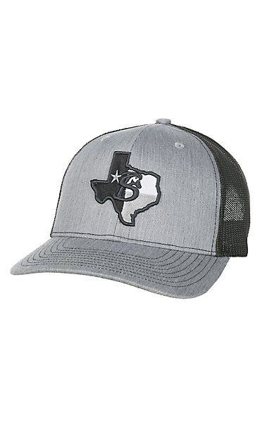 Stackin Bills Grey with Texas Logo Patch and Mesh Snap Back Cap in ... a53c45a025f6