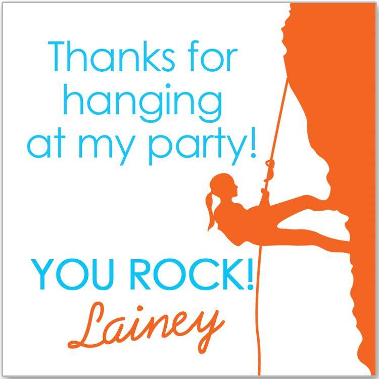 rock climbing party thank you | Party-Rock Climbing | Pinterest ...