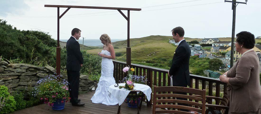 interesting wedding venues ireland%0A Wedding ceremony at Sea View House in Doolin Ireland  A unique wedding venue  on teh
