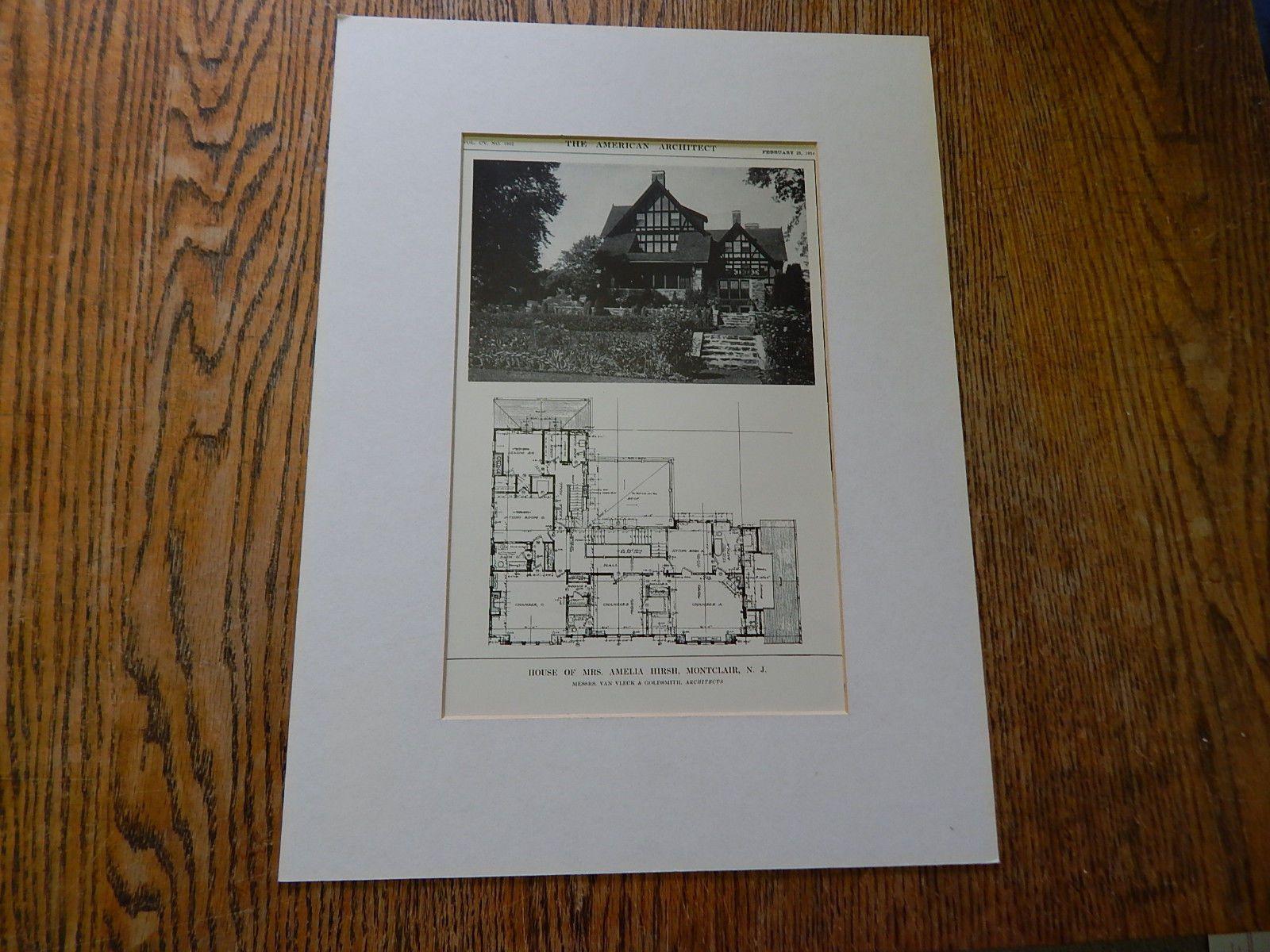 House of Mrs. Amelia Hirsh, Montclair, NJ, 1914. Van Vleck & Goldsmith.