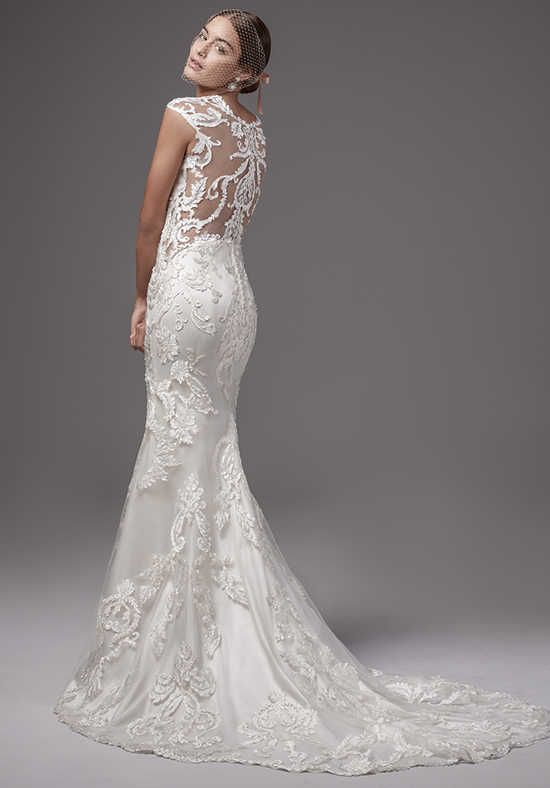 2711bcc5b6f Sottero And Midgley Wedding Dresses · Striking laser-cut lace motifs  cascade down this chic and sexy fit-and-