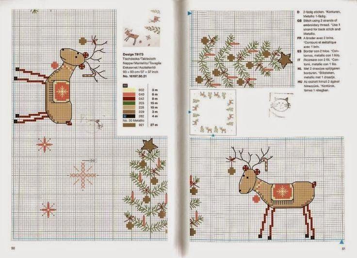 """Милые сердцу штучки: Новогодняя вышивка: """"Деды Морозы, елки и олени... короче, Новый год!"""""""