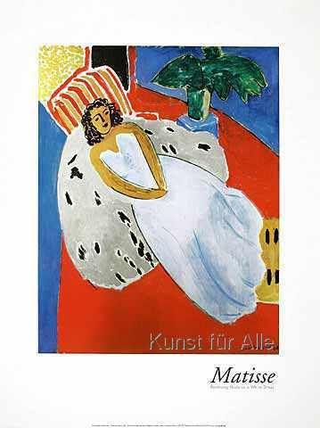 Henri Matisse - Reclining Nude in a White Dress