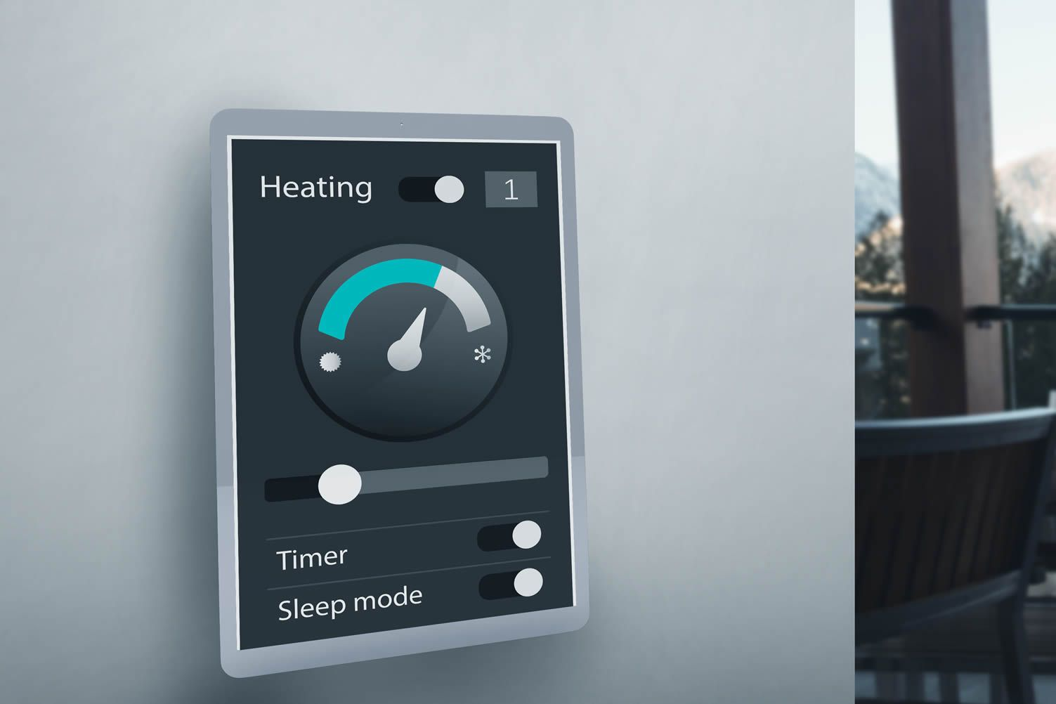 Smart Thermostat Efficient Home Cooling And Heating Home